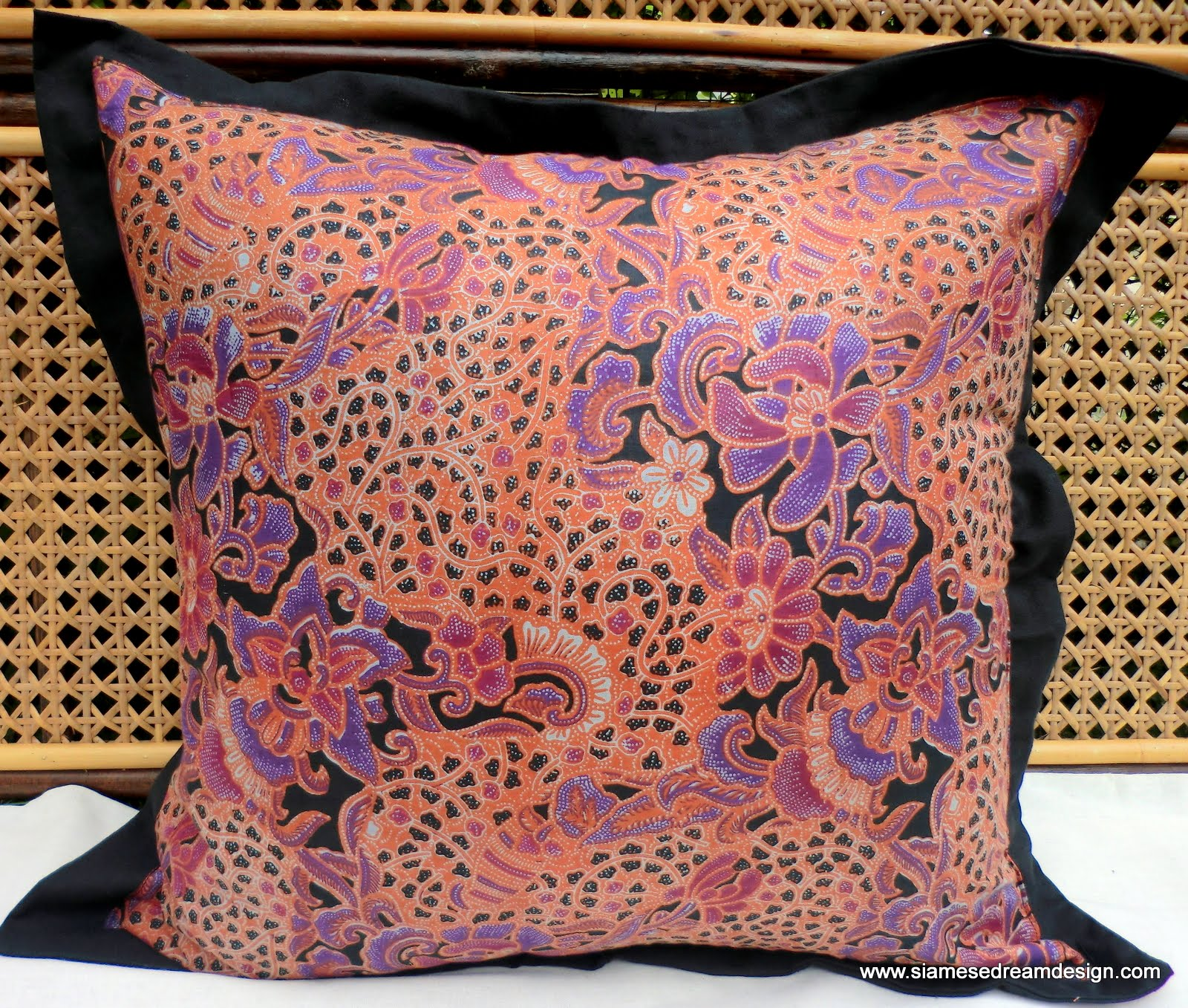 XL Floor Pillow Or Cushion Cover In Colorful Natural Balinese Batik ...